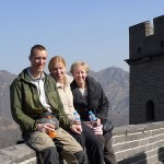 Happy family reunion on the Great Wall