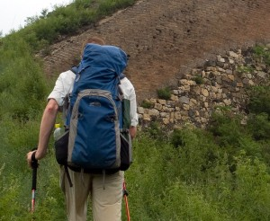 Golite Quest rucksack on the Great Wall